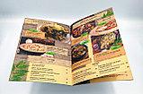Изготовление меню на бумаге Сирио для кафе в алматы, фото 2