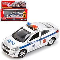 Машина металлическая инерционная «Hyundai Solaris. Полиция», 12 см