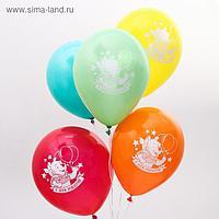 """Воздушные шары «С Днём Рождения», Медвежонок Винни, 5 шт., 12"""""""