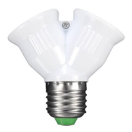 Двойной патрон e27 для ламп, фото 2