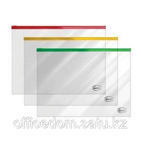 Папка-конверт на молнии Forofis, А4, 29,7х21 мм, 0,14 мм, ПВХ, ассорти