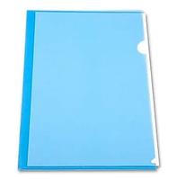 Папка-уголок БЮРОКРАТ, А4, 150 мкм, гладь синяя