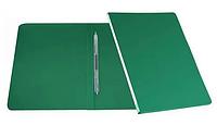 Папка-скоросшиватель с пружинным механизмом БЮРОКРАТ, А4 , зеленая