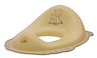 MALTEX Накладка на унитаз Жираф с резинками Бежевый/Серый