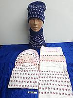 Комплект весенний для девочек с шарфом-снудом. Фирма Agbo