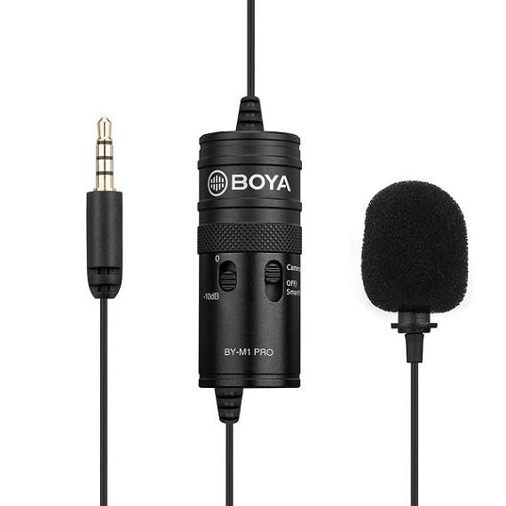 Петличный стерео микрофон от BOYA BY-M1 PRO в комплекте