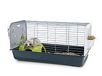 Клетка Savic Caesar 3 De Luxe для морских свинок и карликовых кроликов (серебро)