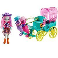 Enchantimals морские коньки с каретой и кукла Санделла