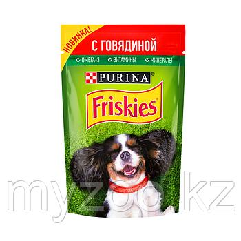 Friskies Фрискис влажный корм для собак с говядиной, 85гр
