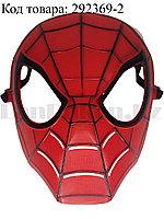 Маска Человек паук пластиковая красного цвета