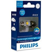 Лампа Светодиодная PHILIPS 12 В, Fest T10,5 12V-LED 1,0W (SV8,5-38) 4000K X-tremeUltinon LED, 128584000KX1