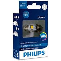 Лампа Светодиодная PHILIPS 12 В, Fest T10,5 12V-LED 1,0W (SV8,5-38) 6000K X-tremeUltinon LED, 128596000KX1