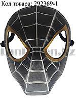 Маска Человек паук пластиковая черного цвета
