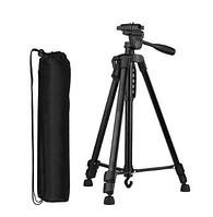 Штатив Tripod 3366 для камеры и телефона / трипод / монопод с блютуз 140 см