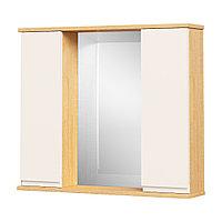 Шкаф навесной: 2 двери и зеркало