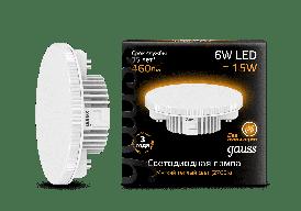 108008106 лампа Gauss Gx53 6W 3000K