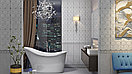 Кафель | Плитка настенная 20х6 Преза | Preza серый бордюр, фото 2