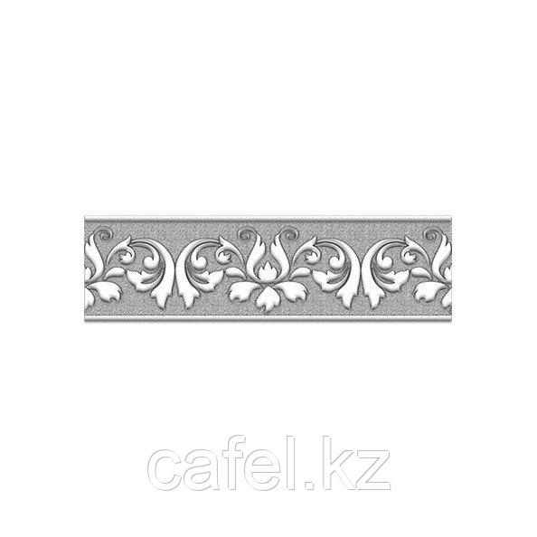 Кафель | Плитка настенная 20х6 Преза | Preza серый бордюр