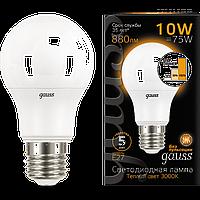 102502110-S Лампа Gauss LED A60 10W E27 2700K