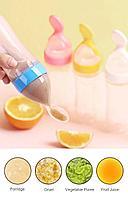 Бутылочка для кормления с насадкой ложка., фото 3
