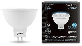 201505205 лампа Gauss MR16 12V 5W 4100K GU5.3