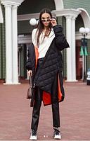 Куртка удлиненная (черная) S