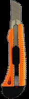 Нож с выдвижным лезвием 18 мм, пластиковый корпус, металлическая направляющая, Вихрь