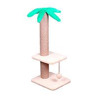 Когтеточка Пальма средняя с полочкой 7 Котиков