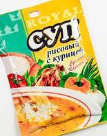 """Суп """"Рисовый с курицей"""" 75 гр, Royal Food"""