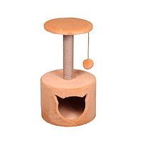 Когтеточка - лежанка домик круглый малый 7 Котиков