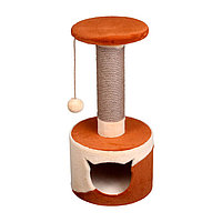 Когтеточка - лежанка домик круглый комбинированный 7 Котиков