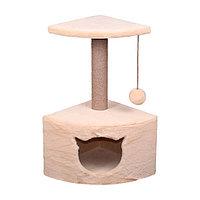 Когтеточка - лежанка домик угловой малый 7 Котиков