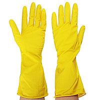 Перчатки резиновые гелевые желтые