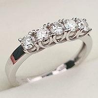 Золотое кольцо с бриллиантами 0.50Сt VS2,SI1/H EX-Cut