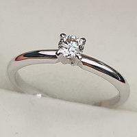 Золотое кольцо с бриллиантами 0.17Сt VS2/J