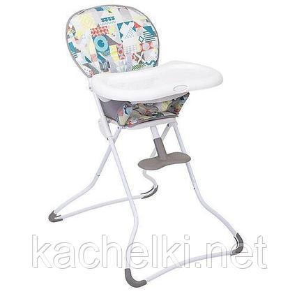 Стульчик Graco Snack n Stow Patchwork Grey
