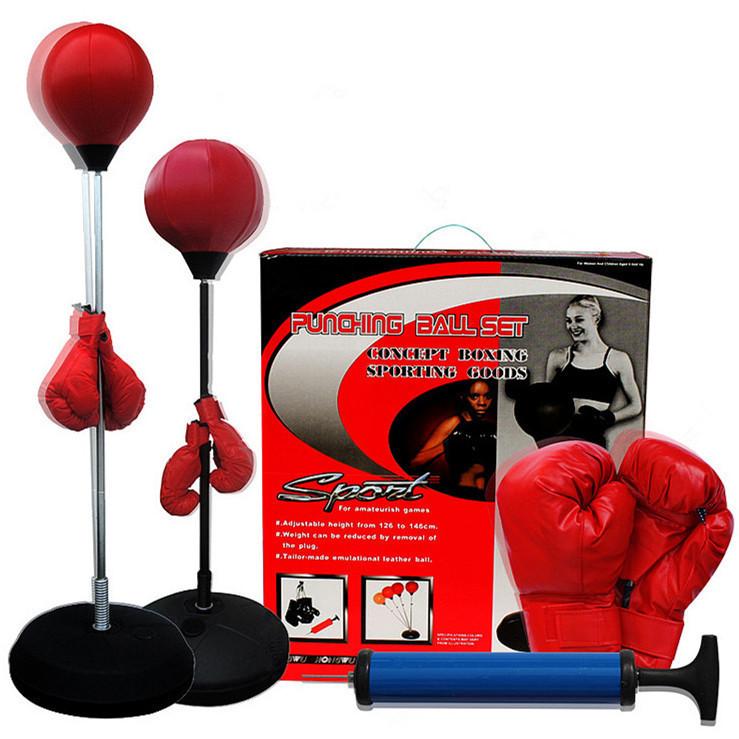 Боксерская груша напольная с перчатками (высота до 140 см) - фото 2