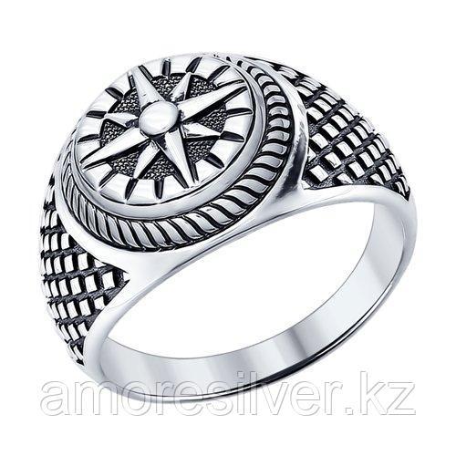 Кольцо SOKOLOV из черненного серебра, без вставок 95010091