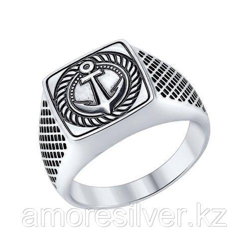 Кольцо SOKOLOV из черненного серебра, без вставок 95010085