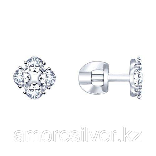Серьги из серебра со Swarovski Zirconia    SOKOLOV 89020096