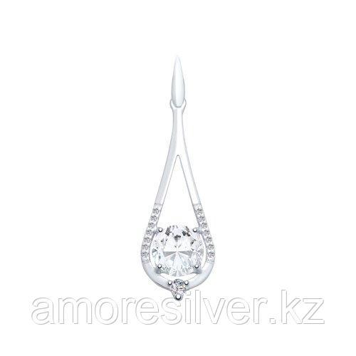 Подвеска из серебра с горным хрусталем и фианитами    SOKOLOV 92030558