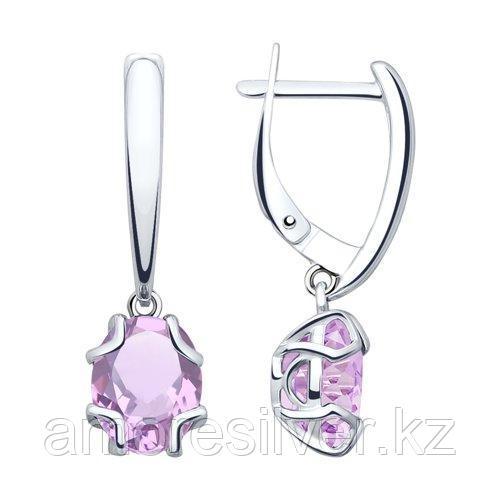 Серьги из серебра с аметистами    SOKOLOV 92022039