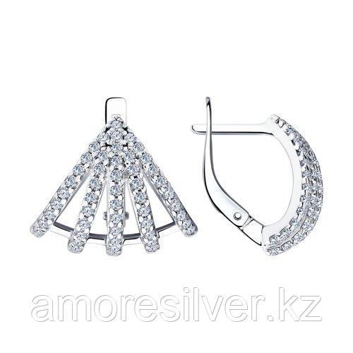 Серьги из серебра с фианитами  SOKOLOV 94023726