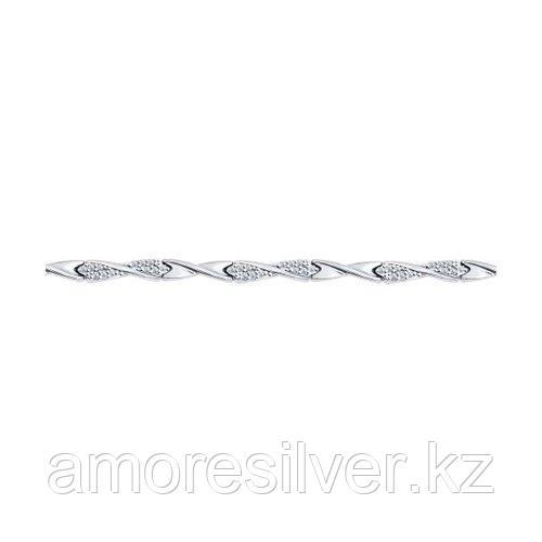Браслет из серебра с фианитами  SOKOLOV 94050336
