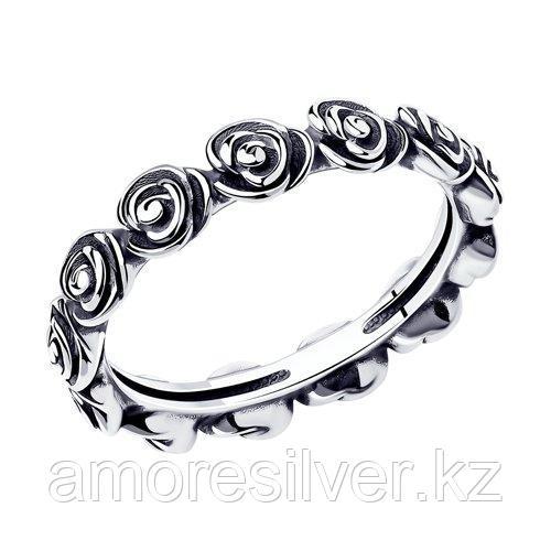 Кольцо SOKOLOV из черненного серебра, без вставок 95010080