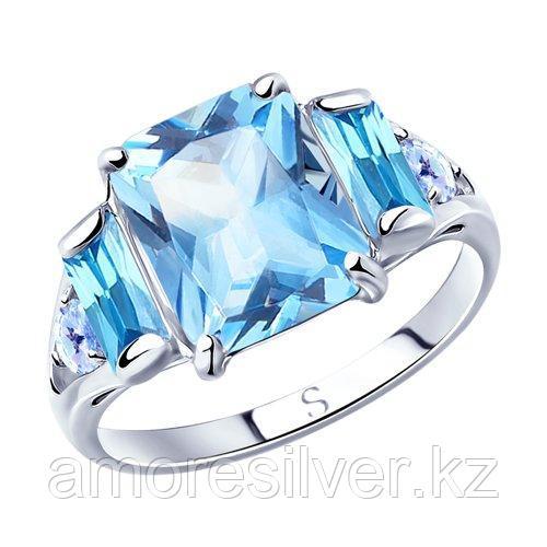 Кольцо SOKOLOV серебро с родием, фианит  94012800 размеры - 18