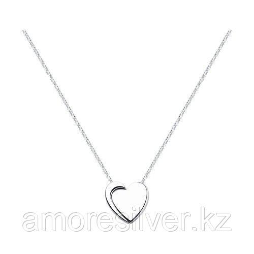 Колье SOKOLOV серебро с родием, без вставок, фантазийная 94070051 размеры - 50