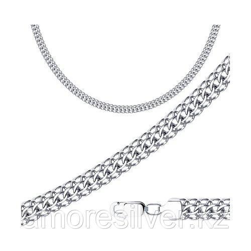 Цепь SOKOLOV серебро с родием, без вставок, питон 968150904 размеры - 50 60