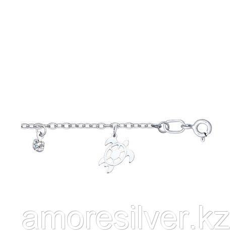 Браслет SOKOLOV серебро с родием, фианит  94050070