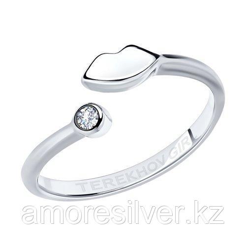 Кольцо SOKOLOV серебро с родием, фианит  94012651